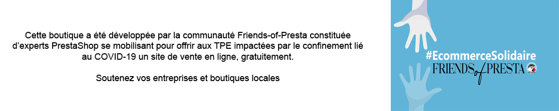 E-commerce Solidaire par la communauté Friends of Presta